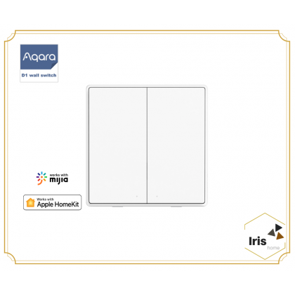 Aqara D1 Smart Wall Switch No Neutral Apple Homekit / Voice Control Over-heat Protection White